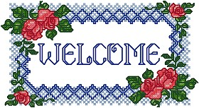 Rose Welcome Sign