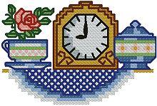 Clock with Sugar Bowl
