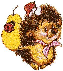 Hedgehog with Pear