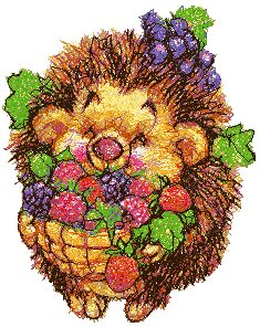 Hedgehog with Berries