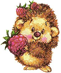 Hedgehog with Raspberry
