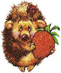 Hedgehog with Strawberry