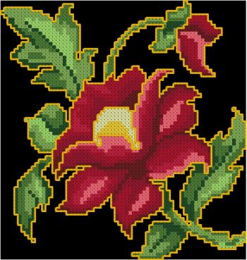 Advanced Embroidery Designs Indian Floral Motif I