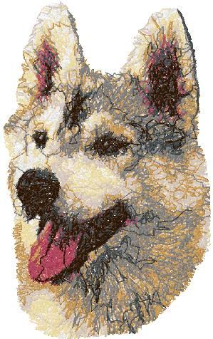 Advanced Embroidery Designs Siberian Husky