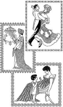 Regency Ladies Blackwork Set