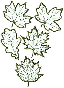 Leaves Applique Set