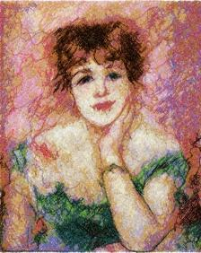 Actress Jeanne Samary by Pierre-Auguste Renoir