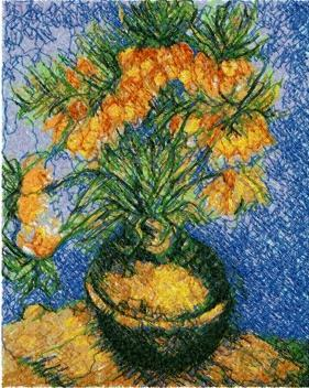 Vincent van Gogh. Imperial Crown Fritillaria.
