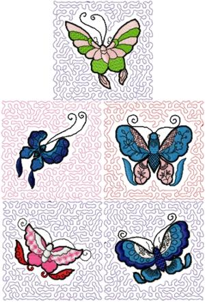 Butterfly Quilt Block Set