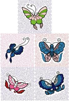 Butterfly Quilt Block Set