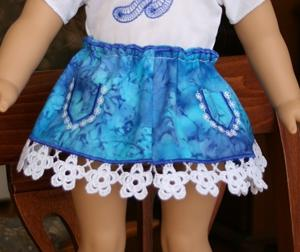 Forget-Me-Not Skirt for 18-in. Dolls