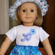 Forget-Me-Not Blouse for 18-in. Dolls