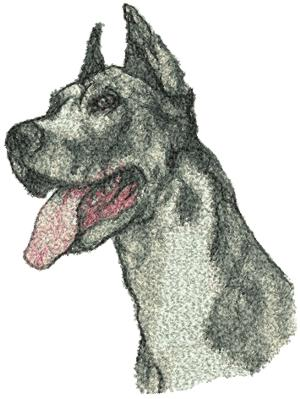 Great Dane Machine Embroidery Designs