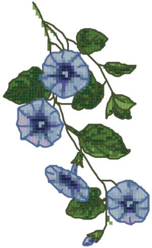 MORNING GLORY MACHINE EMBROIDERY DESIGN