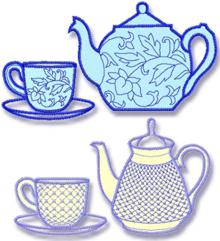 Tea Set Applique