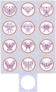 Japanese Butterfly Applique Quilt Block Set