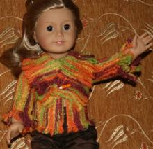 Faux Knit Jacket for 18 inch Dolls