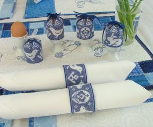 Assisi Egg Caps and Napkin Rings