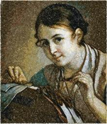 Lace-Maker by Vasily Tropinin