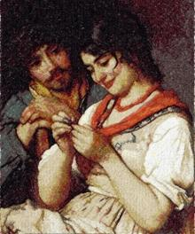 Seamstress by Eugene de Blaas