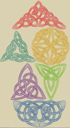 Advanced embroidery designs celtic knotwork set