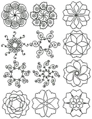 Advanced Embroidery Designs Mandala Quilting Pattern Set