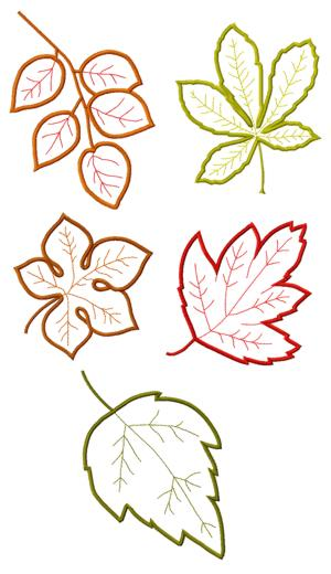 Advanced Embroidery Designs Leaves Applique Set Ii