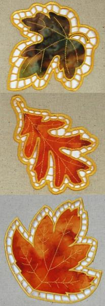 Cutwork Applique Leaf Set