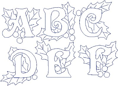 Christmas Redwork Alphabet