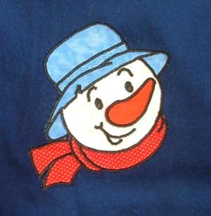 Advanced Embroidery Designs Snowman Applique