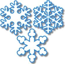 Snowflake Applique Set