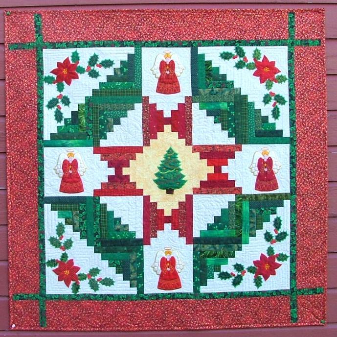 Advanced Embroidery Designs Christmas Quilt Applique Set