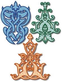 Spanish Motif Applique Set