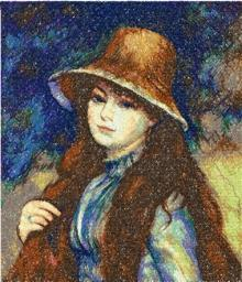 Young Girl in a Straw Hat by Renoir