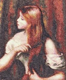 Young Girl Combing Her Hair by Renoir