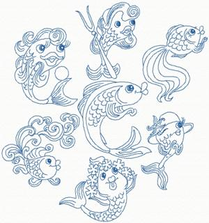 Whimsical Fish Set
