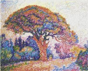 The Pine, St. Tropez by Paul Signac