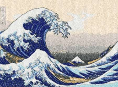 Advanced embroidery designs great wave off kanagawa by