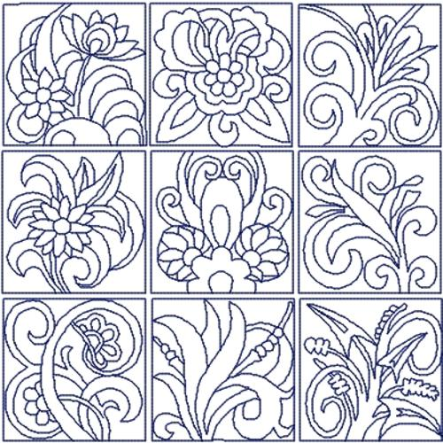 Advanced Embroidery Designs Flowers Quilt Block Set