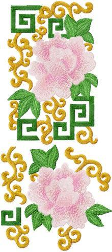 Peony Decorative set 2 embroidery designs