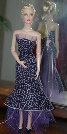 Ball/Wedding Dress with Train for Tonner 16-in Dolls