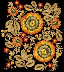 Wild Flowers Decoration Motif