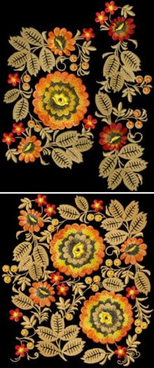 Wild Flowers Decoration Motif Combo Set