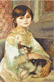 Julie Manet with Cat by Pierre-Auguste Renoir