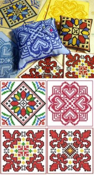 Advanced Embroidery Designs Biscornu Pincushion Set