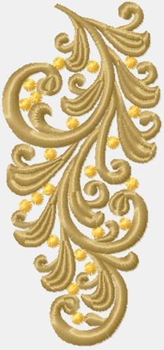 Advanced Embroidery Designs Vine Decorative Motif