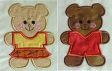 Teddy Bear Cookie Cutter Applique Set