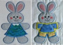 Bunny Cookie Cutter Applique Set