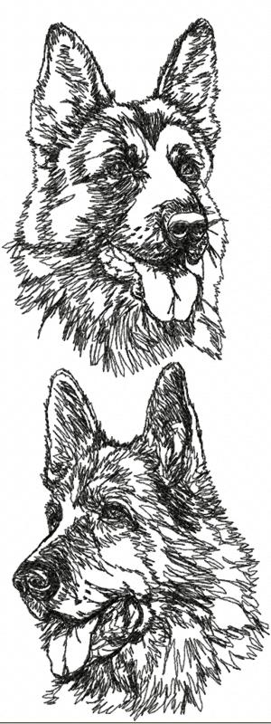 German Shepard Embroidery Pattern 171 Embroidery Amp Origami
