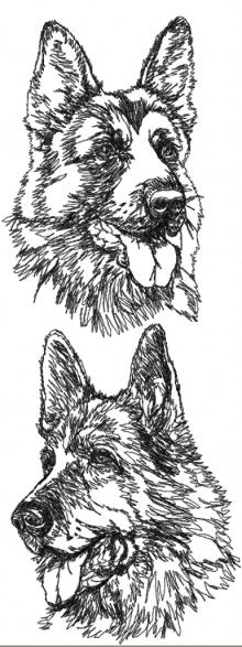 German Shepherd Dog Set